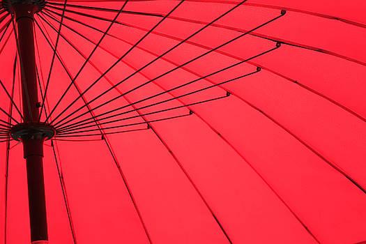 TONY GRIDER - Red Umbrella Abstract