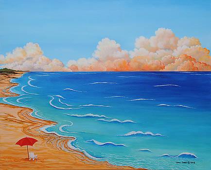 Red Umbrella by Carol Sabo