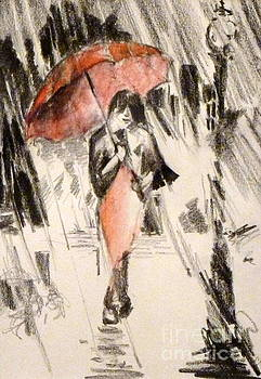 Red Umbrella by Cheryl Emerson Adams