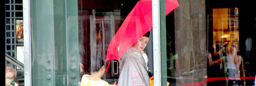Red Umbrella I by Oksana Pelts