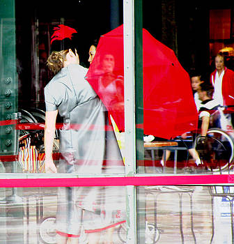Red Umbrella II by Oksana Pelts