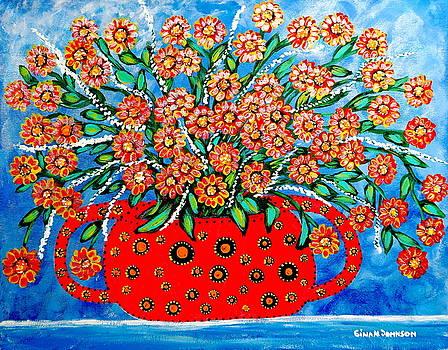 Red vase by Gina Nicolae Johnson