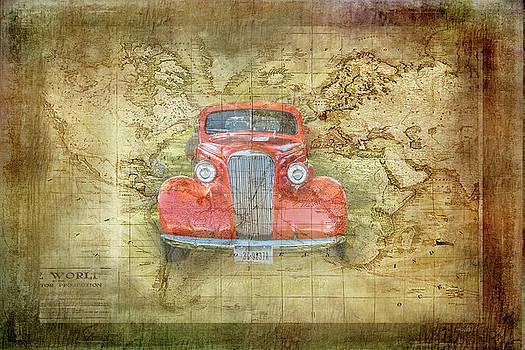 Red Vintage Traveler by Ramona Murdock