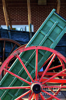 Red Wagon Wheel by George Sheldon