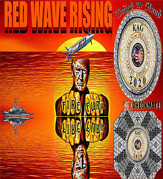 Red Wave Rising 3 by Rick Elam
