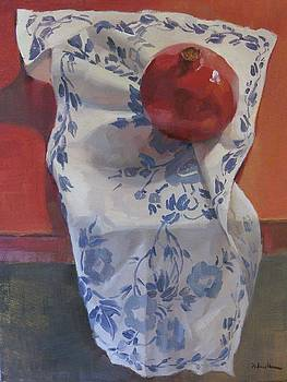 Red, White, and Blue Pomegranate by Sarah Sedwick