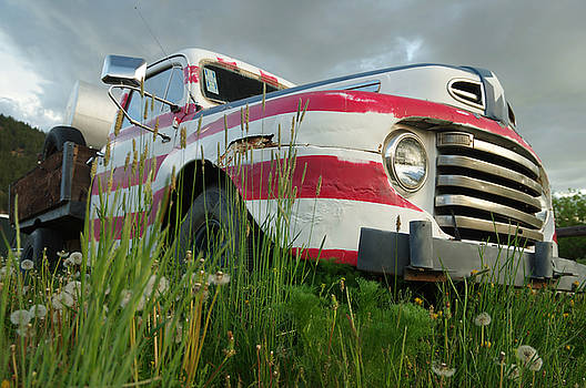 Red White Blue Ford by Jerry Mann