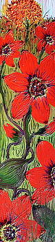 Red Wildflower 6 by Portland Art Creations