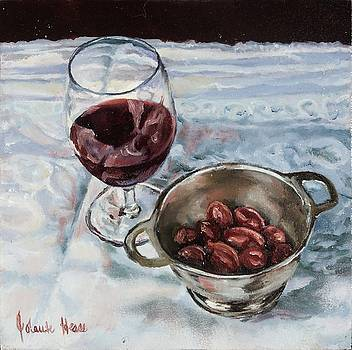 Red Wine and Olives by Jolante Hesse
