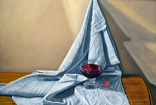 Red wine glass by Tony Banos