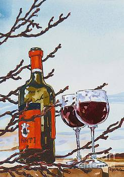 Red Wine in Winter by Cheryl Emerson Adams