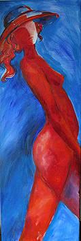 Red woman by Cristina Rettegi