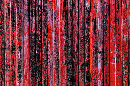 Red Wood Box Car Detail by Garry Gay