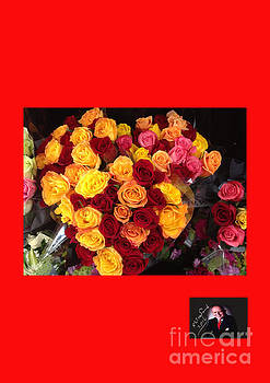 Red Yellow Pink Roses 1 by Richard W Linford