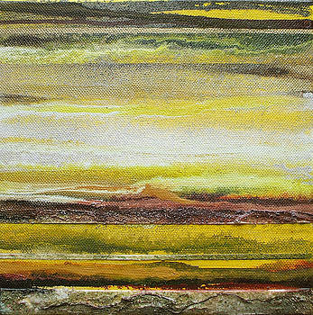Redesdale Rhythms and Textures Series no3 Yellow and sepia by Mike   Bell