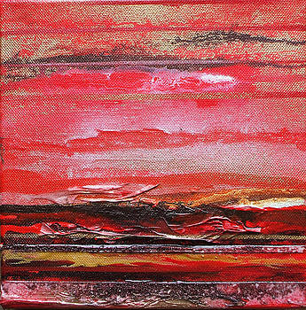 Redesdale Rhythms and  textures series  Red and Gold 3 by Mike   Bell