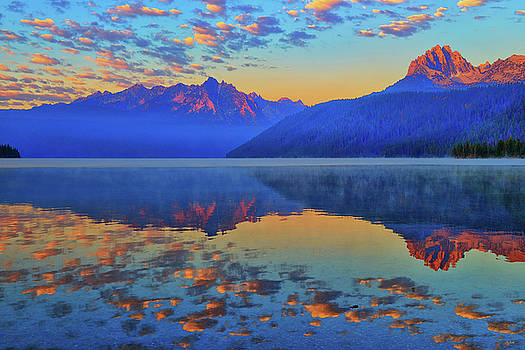 Redfish Lake Morning Reflections by Greg Norrell
