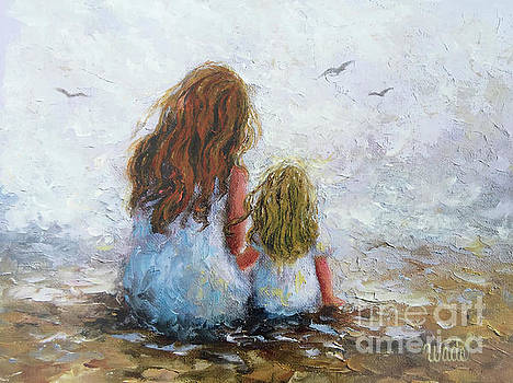 Redhead Mom Blonde Daughter by Vickie Wade