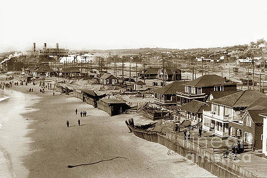 Redondo Beach After a big winter storm of January 31, 1915 by California Views Mr Pat Hathaway Archives