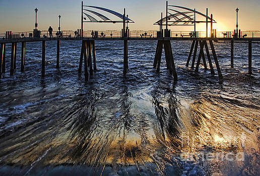 Sweeping Sun Below the Pier by Nick Carlson