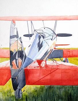 Reflection on Biplane by John Neeve