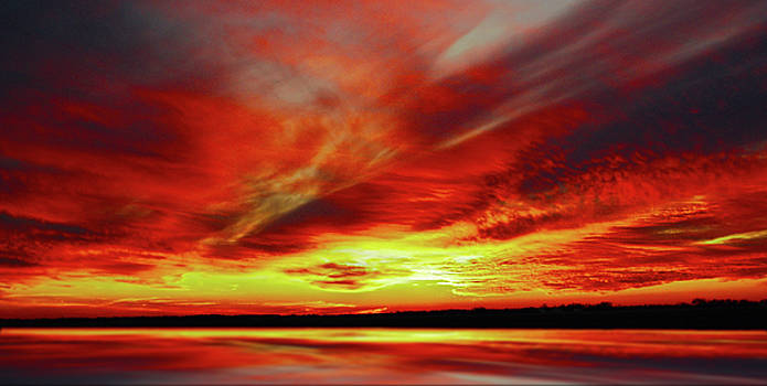 Reflected Sunset by Larry Jost