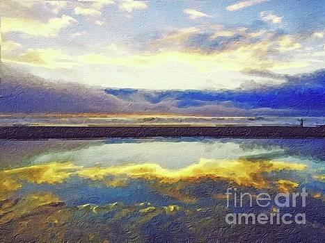Reflecting at the Beach by Joseph J Stevens