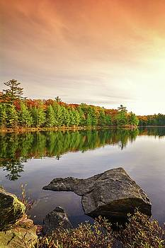 Reflecting On Lake OF Bays by Karl Anderson