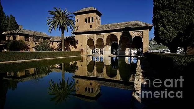 Reflecting Pool at the Palacio del Partal  by Tony Lee