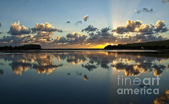 Reflection And Sunrays   by Trena Mara