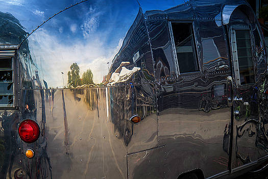 Reflection in an Airstream by Gretchen Tracy