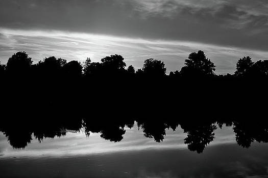 Reflection in Black and White by Michael Hills
