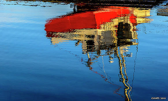 Reflection of a Fishing Boat by Ken Morris