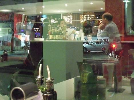 Reflection of Man Drinking a Beer II by Anna Villarreal Garbis