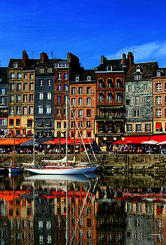 Reflections Honfleur France by Tom Prendergast