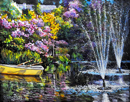 Reflections in Fountain Pond by Eileen  Fong