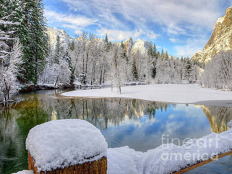 Reflections in the Merced River Yosemite National Park by Wayne Moran