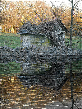 Reflections of a Stone Building by Ericamaxine Price