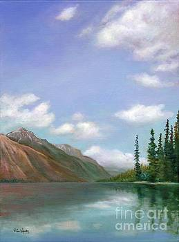 Reflections of Glacier by Eve  Wheeler