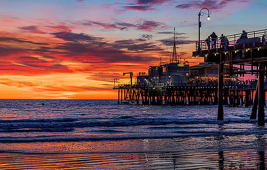 Reflections Of The Pier by Gene Parks