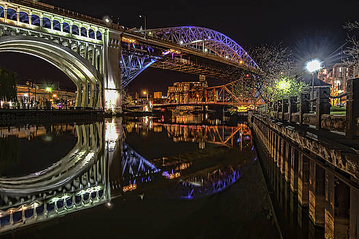 Reflections of Veterans Memorial Bridge  by Brent Durken