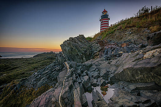 Reflections of West Quoddy Head by Rick Berk
