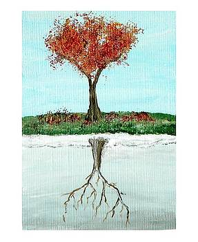 Reflections of Winter in Autumn AECO by Sabrina Zbasnik