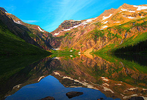 Reflections on Gunsight Lake by Ryan Scholl