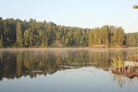 Reflections on Lake Four by Francoise Villibord Pointeau
