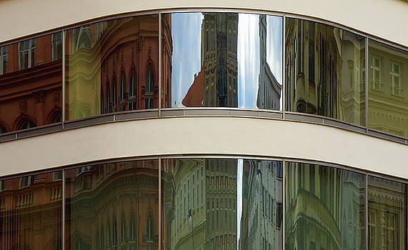 Reflections. Stare Mesto. Prague spring 2017 by Jouko Lehto