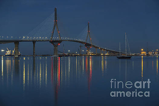 Reflections Under the Bridge Cadiz Spain by Pablo Avanzini