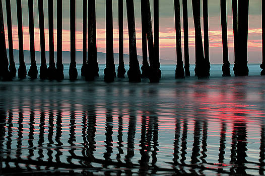 Reflections Under the Pier - Pismo Beach California by Gregory Ballos