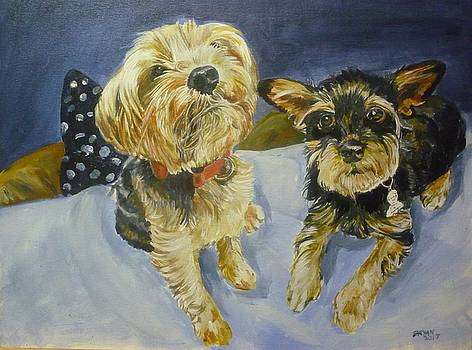 Reggie and Jazzy by Bryan Bustard