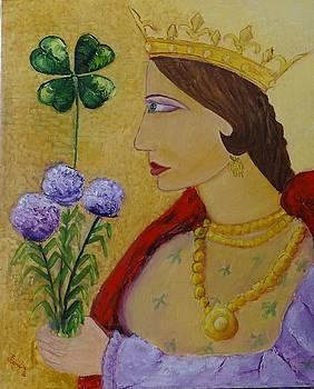 Reina de Trebol by Juan Sandin